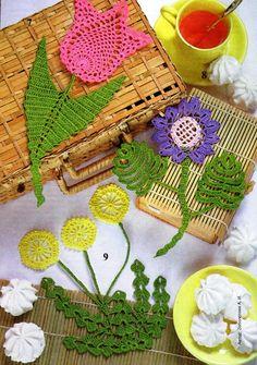 Punto applique. Comentarios: LiveInternet - Russian servicios en línea Diaries crochet flowers, charts, craft, flore crochet, appliques, crochet flower patterns, crochet patterns, crochet flore, flower chart
