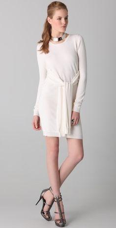 Cushnie et Ochs Cashmere Sweater Dress with Waist Ties - StyleSays