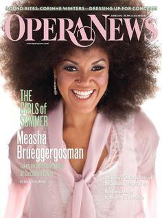 Canadian soprano Measha Brueggergosman - Opera News Magazine cover (June 2012)