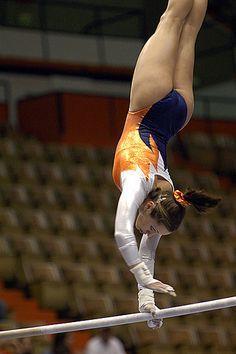 Auburn Gymnastics gymnast routine uneven bars college meet #KyFun moved from @Kythoni Gymnastics: Collegiate board http://www.pinterest.com/kythoni/gymnastics-collegiate/ 13.87