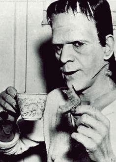 boris karloff's tea time on set
