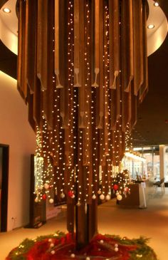 Incredible train rail construction decorated with lights and festive ornaments. #ParkInn #Leuven is located next to the train station. http://www.parkinn.com/hotel-leuven