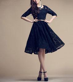 Women's Elegant Lace Dress Long Skirt Summer Plus Size Maxi Dress Sundress In Black-WH152 ,S,M,L,XL,XXL on Etsy, $88.69