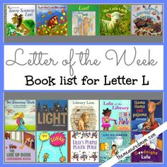 Letter of the Week Book List: 15 Books for Letter L book lists, abc, letter of the week activity l, books for letter l, alphabet, letter of the week l, letters, letter of the week books, read list