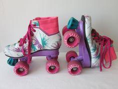 Vintage 80s Brookfield Sparkler Roller Skates - Girls Size 12. $14.00, via Etsy.