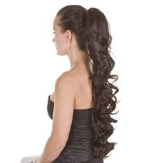 Glamorous Long Curly Wave Style Drawstring Pony Tail Hairpiece | 16 Colours  #HairByMissTresses #Ponytail