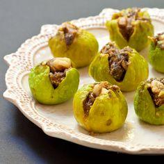 Exotic stuffed figs with walnuts, cardamom, and pomegranate molasses | Recipe Renovator