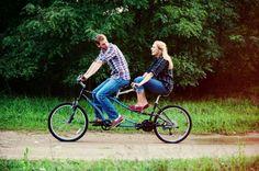 I want one! I want! Tandem bike :D