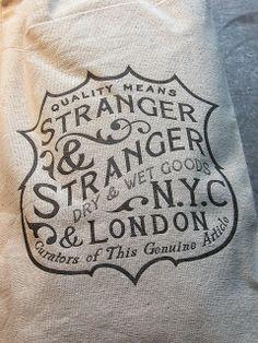 Stranger & Stranger Canvas Bag CU