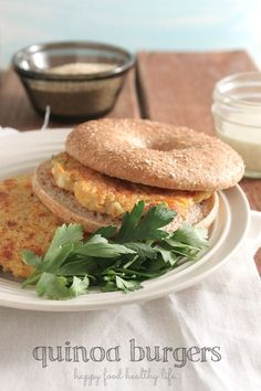 Quinoa Burgers - a healthy vegetarian weeknight meal. full of fresh and healthy ingredients. - www.happyfoodhealthylife.com