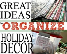 Holiday Decoration Storage Ideas #organization #organize
