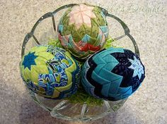 Folded fabric eggs