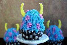 Monsters University Sully Monster Cupcake
