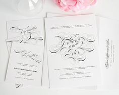 Luxe Flourish Wedding Invitations swirl flourish, invit swirl, lux flourish, wedding invitations, white weddings, invit larg, swirls, unique weddings