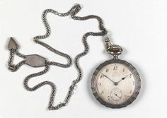Charles Prendergast's pocket watch and chain at Williams College Museum of Art.