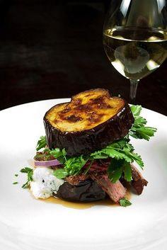 Steak Sandwich with Chipotle, on Aubergine | 15 No-Bread Sandwiches