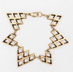 Hex by Lady Grey zigzag bracelet, $29