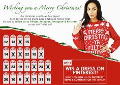 #WIN a Dress from Shelikes.com! Simply FOLLOW us on here, REPIN & COMMENT on this image for your chance to WIN!  #freebie #comp #competition #treat #xmas #christmas