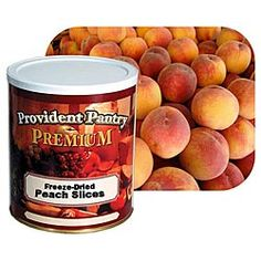 Provident Pantry® Freeze Dried Peach Slices - 9 oz. favorite preparedness item from Emergency Essentials, $23.50