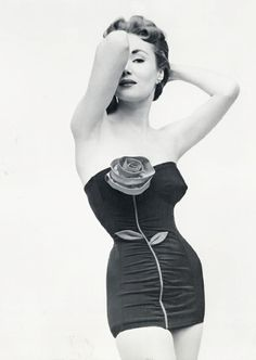 """Rose"" swimsuit by Catalina - circa 1950s."