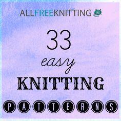 33 Easy Knitting Patterns   AllFreeKnitting.com
