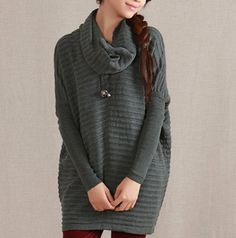 grey   sweater dress large knitted sweater coat by lydiadress, $58.00