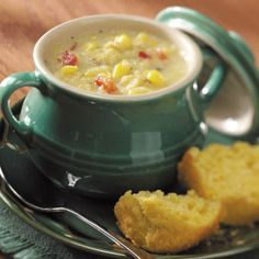 Yummy and Healthy Corn Chowder - Maybe with less spice next time...