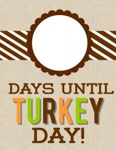 Free Thanksgiving Day Count Down Printable #247moms