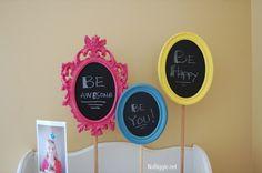Make a pedestal chalkboard frame