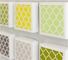 By just using the lid from the gift box you can create this very modern home décor piece.