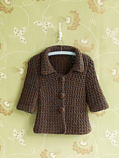 jacket, sweater, free crochet, kids fashion, babies clothes, crochet patterns, crochet cloth, yarn, crochetpattern
