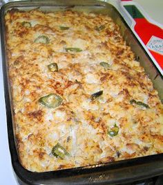 Jalapeno Hash Brown Casserole