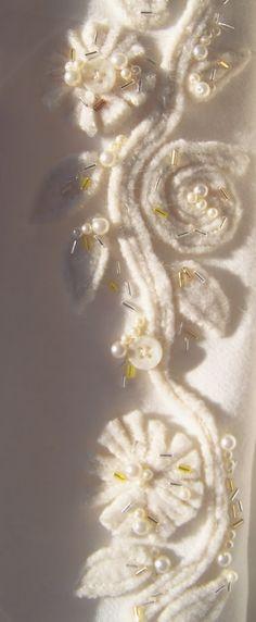 wool felting and embellishment