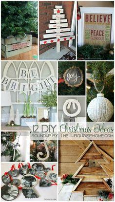 12 DIY Christmas Ideas | TheTurquoiseHome.com