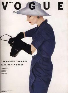 Lisa Fonssagrives blue day dress for Vogue