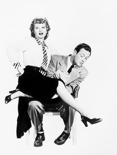 Lucille Ball and William Holden for Miss Grant Takes Richmond, 1949