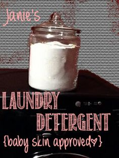 Homemade Laundry Detergent. Sensitive enough for baby's skin
