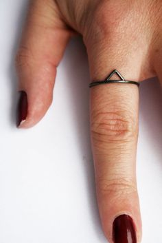 black triangle spike ring.