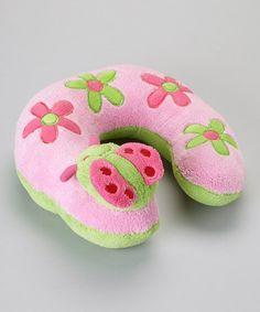 Look what I found on #zulily! Pink Ladybug Travel Pillow by Baby Essentials #zulilyfinds