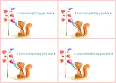 Craftberry Bush: I love everything you 'dew' free Valentine's Day watercolor printables