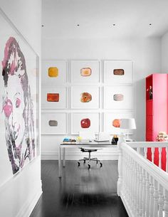 love the colourful artwork via Be Mine Interior Design