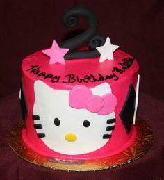 Hello Kitty 2nd Birthday Cake
