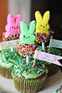 Easter bunny peeps cake, Easter cupcake inspiration, Easter dessert ideas
