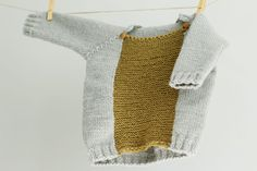Hand Knit Baby Sweater Color Blocked Baby Sweater door LalaKa, $35.00 hand knitted baby, sweater color, baby sweaters, babi sweater