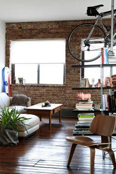 Wall. Chair. Bike.