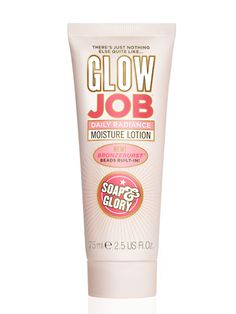 This creamy white lotion is infused with tiny bronzer beads that burst as you rub it into your skin. While the sun-kissed stain is way less saturated than tinted moisturizer, it's perfect for those looking for just a hint of color. im OBSESSED with soap and glory!