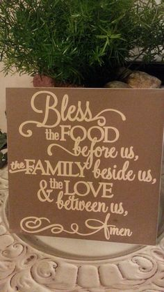 Prayer Quote Food Blessing  Quote Decorative Tile by scontrino1970, $16.00   USE COUPON CODE BLKFRI25 TO SAVE 25% thru 12/3/13
