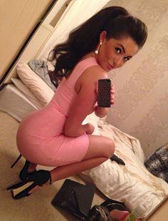sexy girl in tight dress