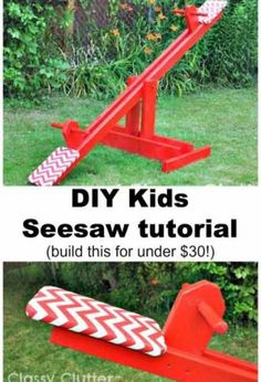 DIY Kids SeeSaw For Under $30 - Home and Garden