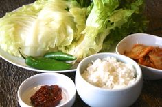 ssam-bap ingredients #korean #recipes #csuf #fullerton http://ow.ly/uIU8T